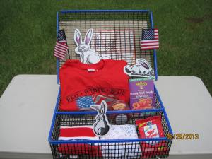 4th of July Show Groom Box packed for raffle table