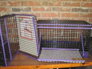 cage,grooming box and grooming stand to match