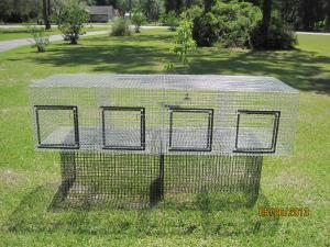 4 hole each 18 x 24  1 x1 wire, GAW, 16 gauge  24 w x 72 L x 18 high            $80.00