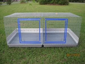 2 hole each 24 x 24 24 W x 48 L x 18 H solid divider Urine guards Custom Build prices vary between $105-200+ depending on options