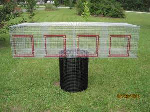 4 hole each 18 x 24 1 x1 wire, GAW, 16 gauge 24 w x 72 L x 18H $85.00