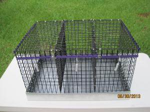 Three Hole Vinyl 16 gauge 1 x 1 Three separate openings Purple trim 16 W x 24 L x 10 H             $62.50