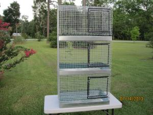 each compartment 18 x 30 x 15 metal pans, all one piece, galvanized after weld, 14 gauge, 57inch total height  $210.00