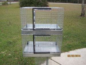 Cavy cage 2 hole  18 x 24 no wire bottom galvanized after weld  96.00